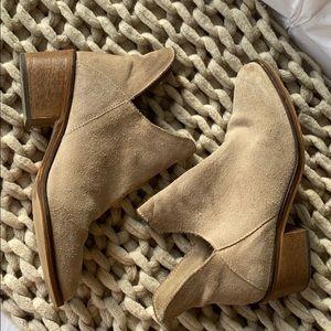 Zara beige suede booties